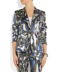Theyskens' Theory - Multicolor Janta Printed Silk Satin Jacket - Lyst