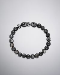 David Yurman | Gray Spiritual Bead Bracelet for Men | Lyst