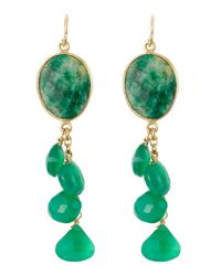 Devon Leigh | Green Emeraldonyx Drop Earrings | Lyst