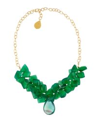 Devon Leigh | Green Onyx and Fluorite Necklace | Lyst
