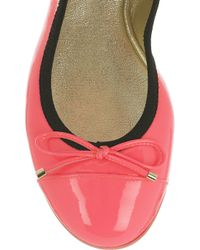 Jimmy Choo - Pink Wallach Patent-leather Ballet Flats - Lyst