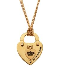 Juicy Couture | Metallic Turnlock Heart Starter Necklace | Lyst