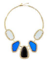 Kendra Scott | Blue Blitzen Fivestation Necklace | Lyst
