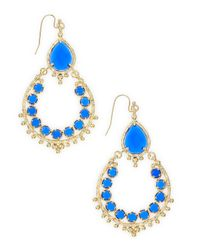 Kendra Scott | Blue Cobalt Hoop Earrings | Lyst