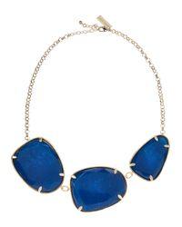 Kendra Scott - Blue Galeana Threestone Necklace - Lyst