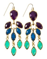 Kendra Scott - Multicolor Gem Trifacet Earrings - Lyst