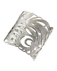 Kendra Scott - Gray Salome Leaf Cuff Rhodium - Lyst