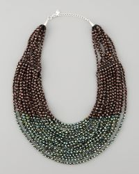 Nakamol - Green Beaded Multistrand Necklace - Lyst