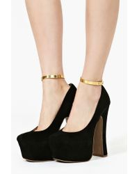 Nasty Gal | Metallic Gold Metal Ankle Cuffs | Lyst