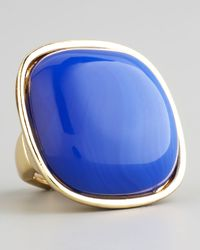 Panacea - Blue Square Cabochon Ring - Lyst