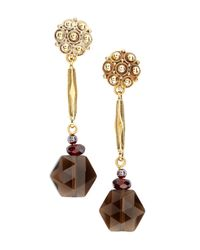 Stephen Dweck - Metallic Hexagonal Dangle Earrings - Lyst