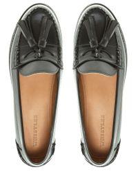 Whistles | Black Gimlet Tassled Loafers | Lyst