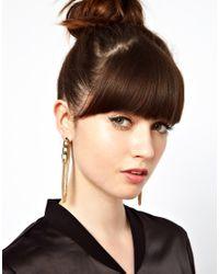 ASOS | Metallic Looped Back Chain Earrings | Lyst