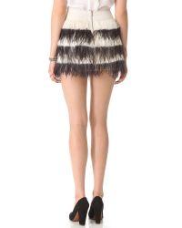 Club Monaco Black Bridget Feather Skirt