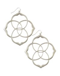 Kendra Scott - Metallic Rajan Intersecting Earrings - Lyst