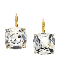 Kenneth Jay Lane | Metallic Cushioncut Rhinestone Earrings | Lyst
