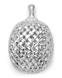 Slane | Metallic Basketwoven Pendant | Lyst