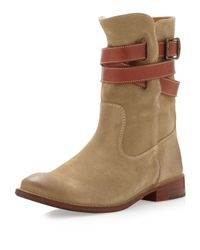 Frye Natural Shirley Wrapankle Short Boot
