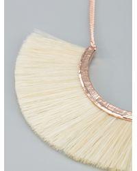Bjorg - White Horse Hair Necklace - Lyst