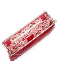 Hobo Red Deanna Metalframe Clutch