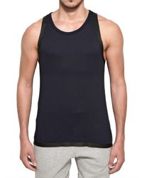 Adidas SLVR   Blue Cotton and Silicon Tape Tank Top for Men   Lyst