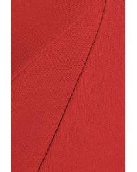 Donna Karan Red Stretchcrepe Dress