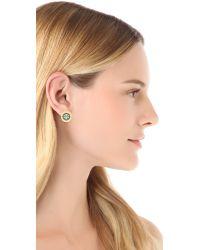 Tory Burch - Metallic Enamel Stud Earrings - Lyst