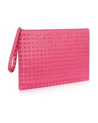 Valentino Pink Leather Clutch