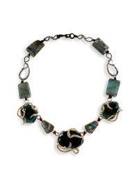 Alexis Bittar | Multicolor Labradorite Midnight Vine Encrusted Necklace | Lyst