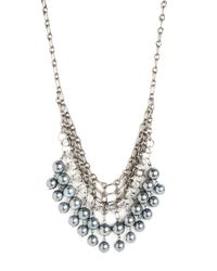 BaubleBar | Metallic Black Pearl Mesh Bib | Lyst