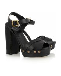 Chloé | Black Studded Leather Sandals | Lyst