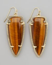 Kendra Scott | Brown Skylar Arrow Earrings Tigers Eye | Lyst
