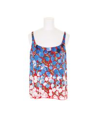 Marc Jacobs | Multicolor Top in Cupro with Floral Pattern | Lyst