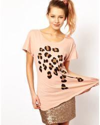 Wildfox - Natural Leopard Spots T-Shirt - Lyst