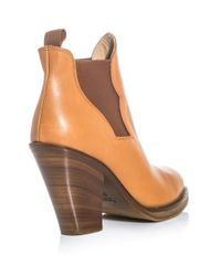 Acne Studios - Brown Ankle Boots - Lyst