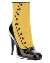 Fendi | Yellow Ankle Length Boot | Lyst
