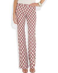 Isabel Marant   Red Mendel Printed Crepe Pants   Lyst