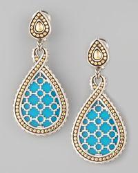 John Hardy - Blue Dot Turquoise Teardrop Earrings - Lyst