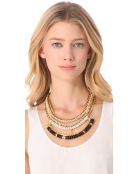 Lizzie Fortunato - Metallic Open Spaces Chain and Leather Necklace - Lyst
