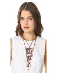 Theodora & Callum - Metallic Agra Necklace - Lyst