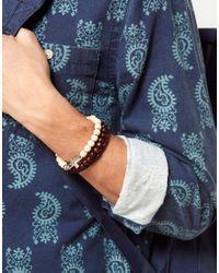 ASOS | Brown Asos Bead and Cross Bracelet Pack for Men | Lyst