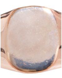 ASOS - Metallic Square Signet Ring - Lyst