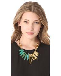 Gemma Redux - Metallic Turquoise Asymmetrical Necklace - Lyst