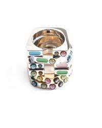 Delfina Delettrez | Metallic Peridot and Silver Infinity Ring | Lyst