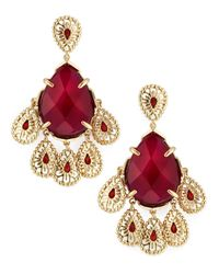 Kendra Scott - Red Forbes Flare Earrings - Lyst