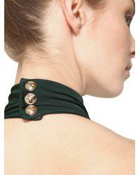 Balmain - Green Halter Neck Viscose Jersey Dress - Lyst