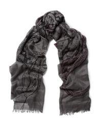 Horiyoshi III   Gray Snake Printed Silk and Cashmereblend Scarf for Men   Lyst