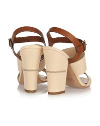 Chloé | Brown Two-Tone Leather Sandals | Lyst