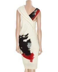 Donna Karan - Natural Artist Draped Stretch-jersey Dress - Lyst