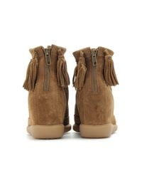 Isabel Marant | Brown Basley Suede Wedge Boots | Lyst